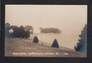 VT Shore Scene NORTH HERO VERMONT Real Photo RPPC Postcard Carte Postale