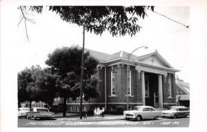 E50/ Monticello Illinois Real Photo RPPC Postcard c50s Methodist Church