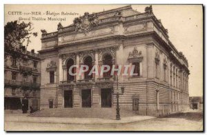 Old Postcard The Sea Grand Theater News