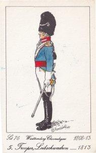 Trooper Liebschwadron Regiment Soldier German Napoleonic War PB Postcard
