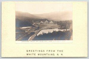 White Mountains NH~Crawford House From Elephant's Head~Handmade~c1905 RPPC
