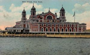Ellis Island, New York, N.Y., Early Postcard, Unused