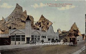Revere Beach, Massachusetts, MA, USA Postcard LA Thompson Sceniec Railway Unused