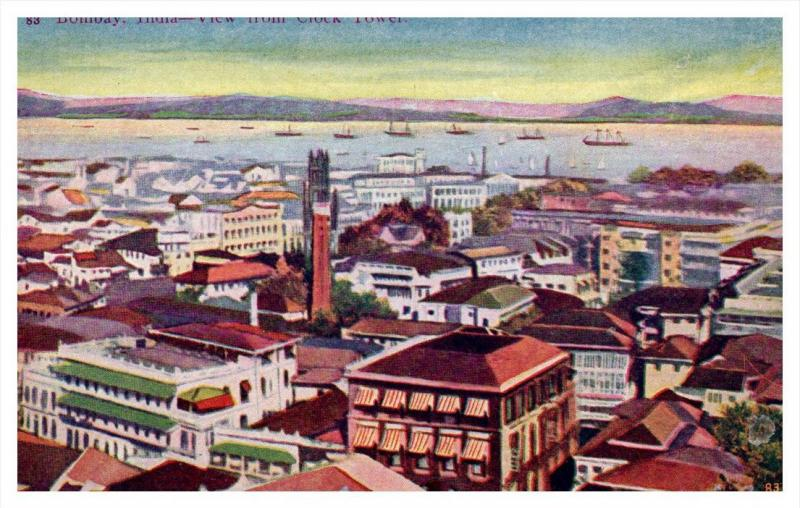 15068   Aerial view from clock tower Bombay India