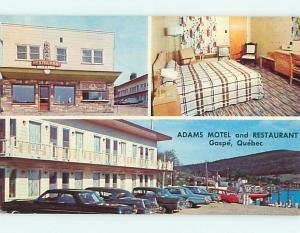 Pre-1980 OLD CARS & ADAMS RESTAURANT & MOTEL Quebec PQ CANADA r0850