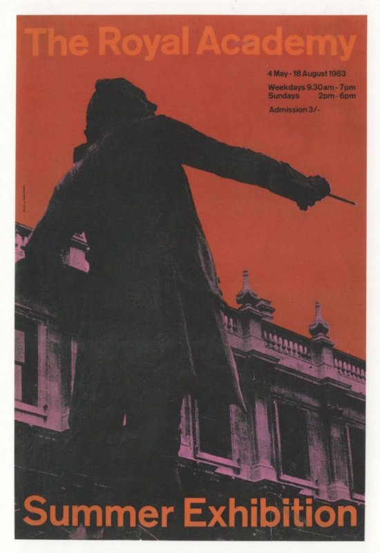 Royal Academy Of Arts 1963 Statue Art Exhibition Advertising Postcard