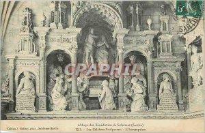 Postcard Benedictine Abbey of Solesmes (Sarthe)