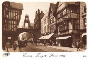 Postcard CHESTER Foregate Street 1929 Francis Frith Collection Repro Card