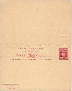 Entier Postal Stationery Postal Britain Great Britain Morocco