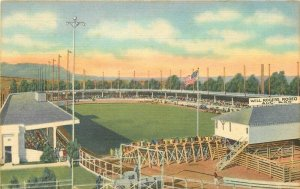 Broadmoor Pikes Peak Colorado Spencer Penrose Stadium 1940s Postcard Teich 6052