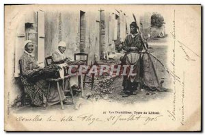 Old Postcard Folklore Lace bobbin lace makers Types The coastal