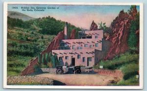 Postcard CO Hidden Inn Gateway Garden of The Gods Colorado c1920s B8
