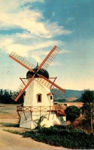 California Solvang Danish Windmill 1956