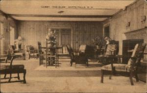 Goffstown NH Lobby of the Elms Postcard