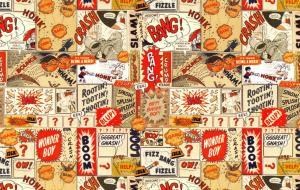 Postcard The Beano Sound FX Pattern Art