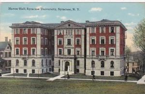 New York Syracuse Haven Hall Syracuse University 1914