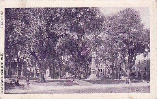 Massachusetts Springfield Court Square 1903