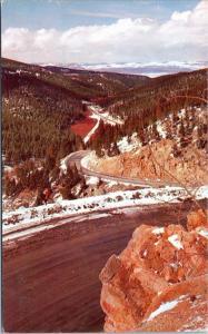 postcard MT Harding Way, US 10, approaching Butte, Montana