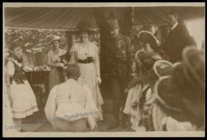 Austria Hungary WWI Kaiser Karl Franz Josef Successor Wife Zita  RPPC 65694