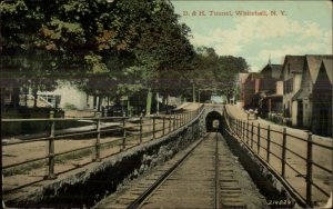 Whitehall NY D&H RR Train Tunnel c1910 Postcard