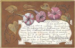 Artist Signed Post Card Flowers, Artist Bishop 1908