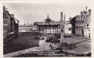 RP, Vue De La Place De La Republique, De La Plage Et De La Nouvelle Gare Mari...