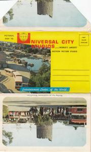 UNIVERSAL CITY Studios , California , 50-60s ; Folder Postcard