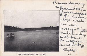 MOUNTAIN LAKE PARK, Maryland , 1906 ; Lake Scene