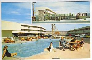 Las Vegas NV Tam O'Shanter Motel Swimming Pool Old Cars Split View Postcard