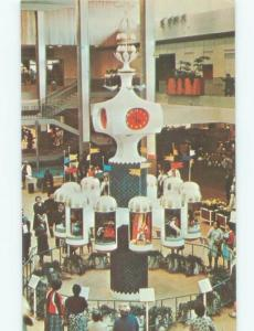 Pre-1980 SHOPS IN MALL BY CLOCK OF THE NATIONS Rochester New York NY E8002