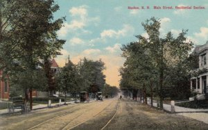 NASHUA, New Hampshire, 1900-10s; Main Street, Residential Section