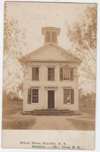 RPPC, School House, Stittville NY