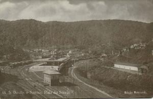 brazil, São Paulo a Santos, Raiz da Serra, Railway Station 1910s Malusardi RPPC
