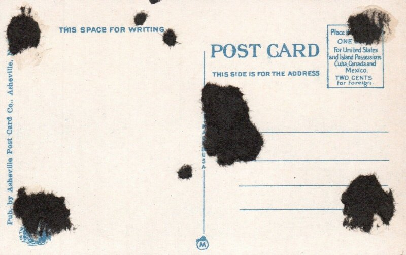 Chimney Rock, NC, Stairway thru Needles Eye, White Border Vintage Postcard g8536