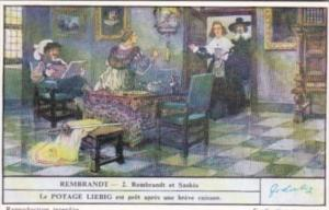 Liebig Trade Card S1481 Rembrandt II No 2 Rembrandt et Saskia