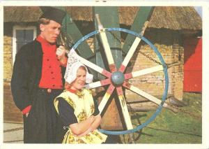 Netherlands, Dutch Couple in traditional cloths, 1972 used