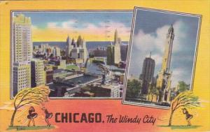 Illinois Chicago The Wind City 1952