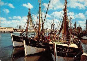 Belgium Oostende Visserssloepen Fishing Boats, Fischerboote Bateaux de Peche