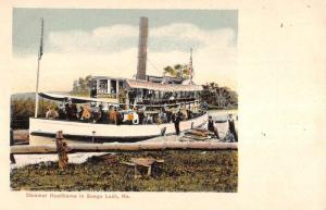 Songo Lock Maine Steamer Hawthorne Waterfront Antique Postcard K93139