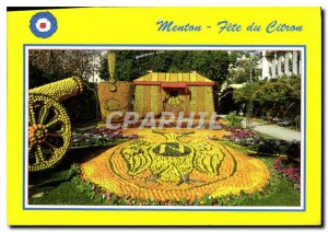 Postcard Moderne Menton Lemon Holidays