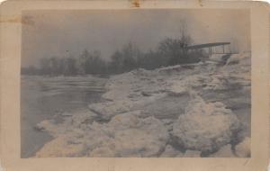 E49/ Hutsonville Illinois Il Real Photo RPPC Postcard c1910 Ice Gorge