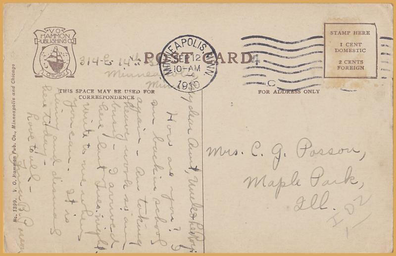 Minneapolis, Minn., Minnehaha Falls - 1907, G.D. Westphal - 1910