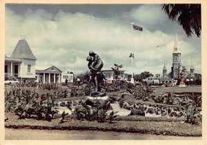 Mauritius View of Paul and Verginie real photo postcard