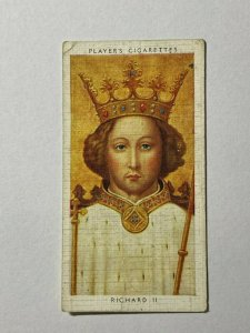 CIGARETTE CARD - PLAYERS KINGS & QUEENS ENGLAND #12 RICHARD II (UU13)
