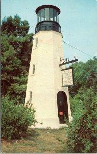 postcard Rehoboth Beach, Delaware - Replica of Henlopen Light House