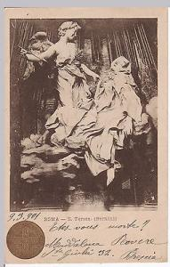 Holy year postcard, sent from Brescia, Italy to Belgium, ...
