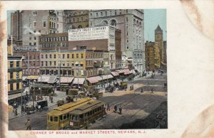 NEWARK , New Jersey, 1901-07 ; Corner of Broad & Market Streets