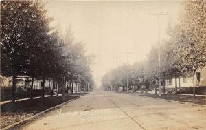 E40/ Warren Indiana In Real Photo RPPC Postcard c1910 North Main Street Homes