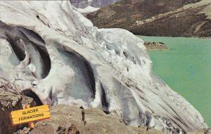 Canada Alberta Jasper Icefield Crevasse Formations