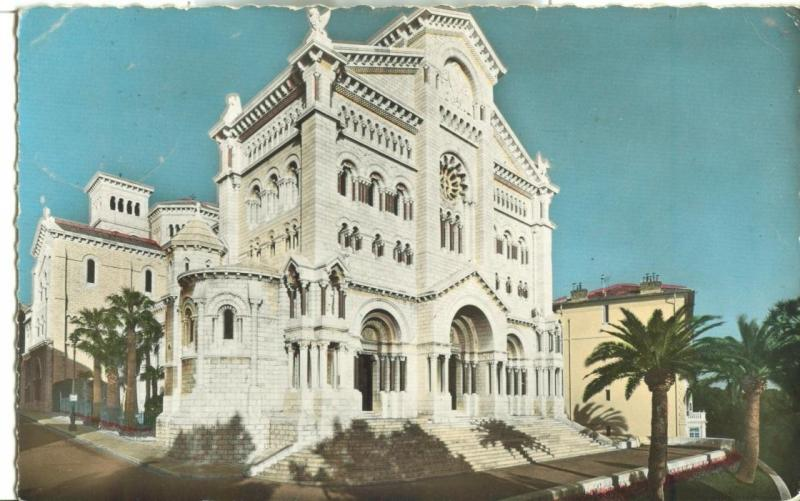 Monaco, La Cathedrale, The Cathedral, 1959 used real photo